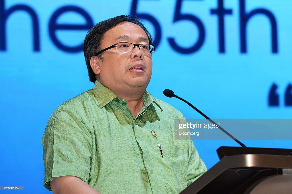 Bambang Brodjonegoro, Indonesia's finance minister, speaks during the AIC World Congress conference in Jakarta, Indonesia, on Friday, April 29, 2016. The government will consistently provide financial instrument to improve the money market, Brodjonegoro said. Photographer: Dimas Ardian/Bloomberg via Getty Images