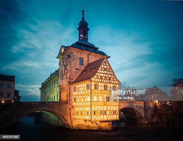 Bamberg's Old Town Hall at Dusk