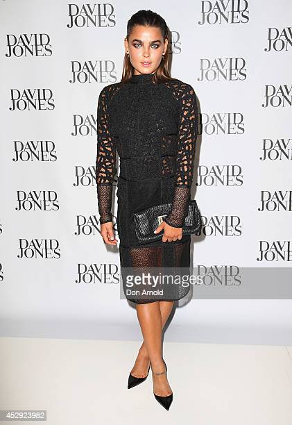 Bambi NorthwoodBlyth arrives at the David Jones Spring/Summer 2014 Collection Launch at David Jones Elizabeth Street Store on July 30 2014 in Sydney...