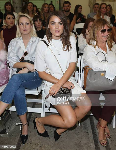 Bambi NorthwoodBlyth sits front row at the Bec Bridge show at MercedesBenz Fashion Week Australia 2015 at Carriageworks on April 13 2015 in Sydney...