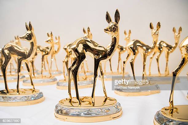 Bambi trophys captured during the walkabout through the stage theatre prior to the Bambi awards 2016 at Stage Theater on November 16 2016 in Berlin...