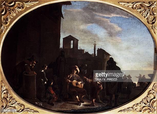 Bambocciata storyteller by Johannes Lingelbach oil on canvas Rome Galleria Nazionale D'Arte Antica Di Palazzo Corsini