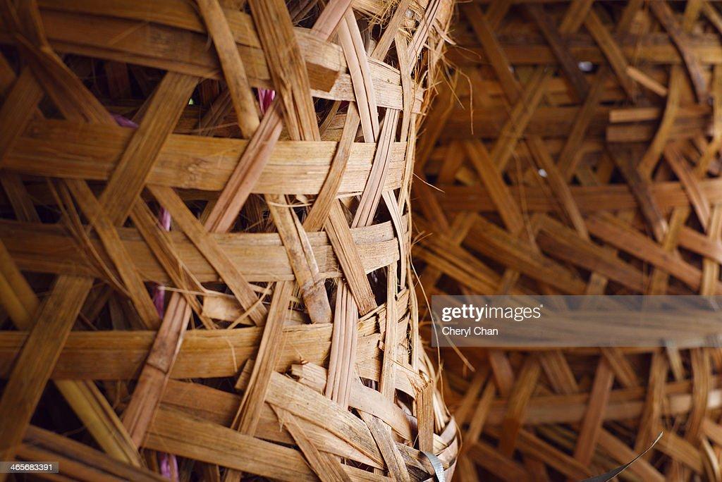 Bamboo baskets : Stock Photo