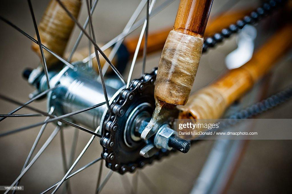 Bamboo bicycle rear coaster hub and lugs