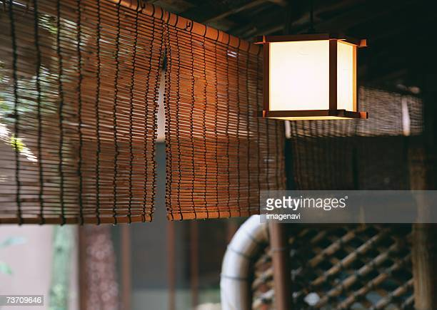 Bamboo Blind and Hanging Lantern