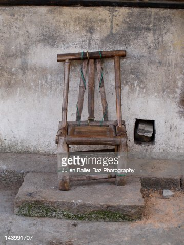 Bamboo chair : Stock Photo