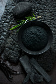 a new ingredient in culinary world, activated bamboo charcoal powder