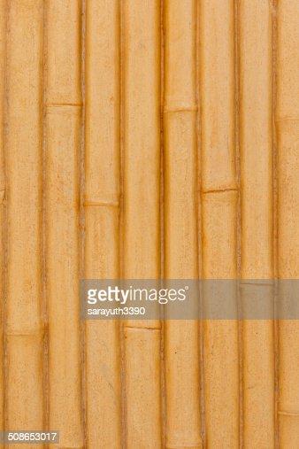 bamboo fence background : Stock Photo