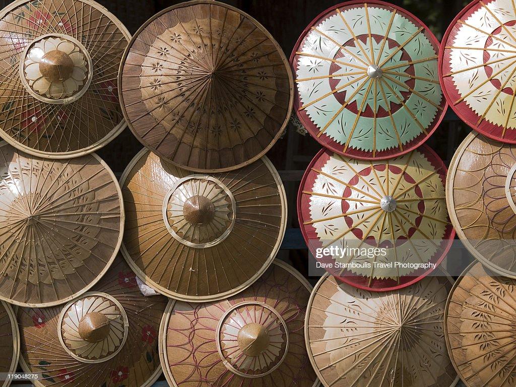 Bamboo hats in Mandalay