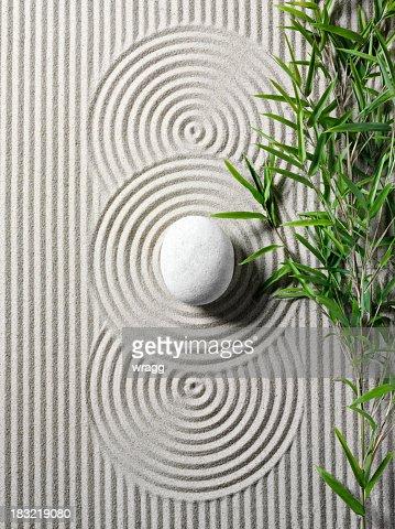 Bambù In Un Giardino Zen Foto stock  Getty Images