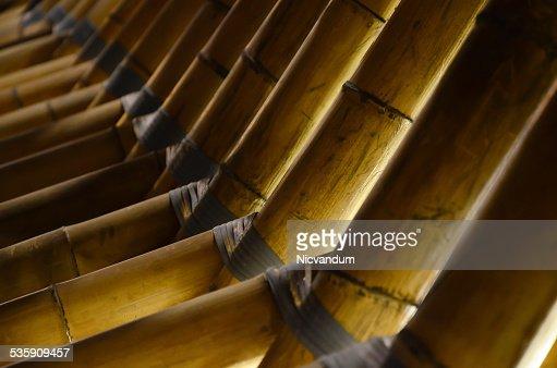 Instalação de Bambu : Foto de stock