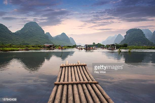 Bamboo Raft on Yulong River