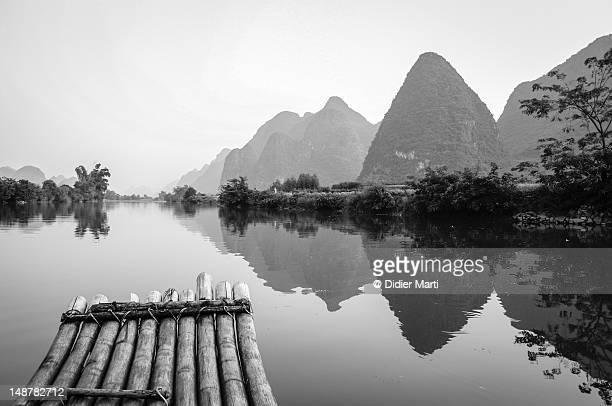 Bamboo rafting in Guilin