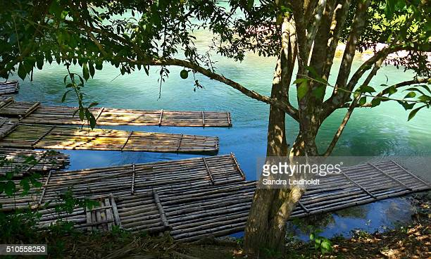 Bamboo Rafts in Jamaica
