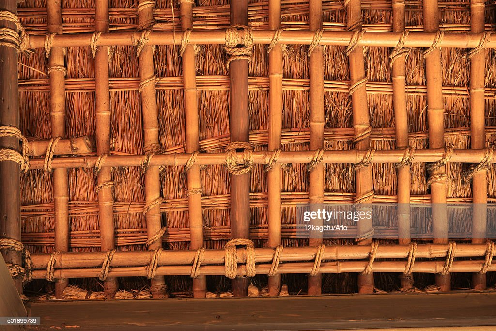 Bamboo Roofing : Stock Photo