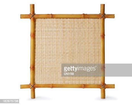 Bamboo sign isolated on white background