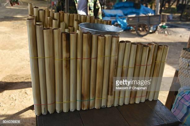 Bamboo Sticky Rice, Kratie, Cambodia