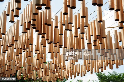 bamboo tube of art : Stock Photo
