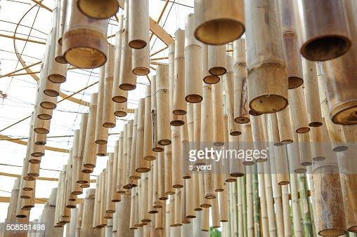 bamboo tube of art : Stock Photo