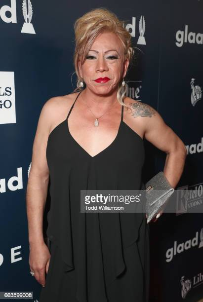 Bamby Salcedo attends the 28th Annual GLAAD Media Awards in LA at The Beverly Hilton Hotel on April 1 2017 in Beverly Hills California