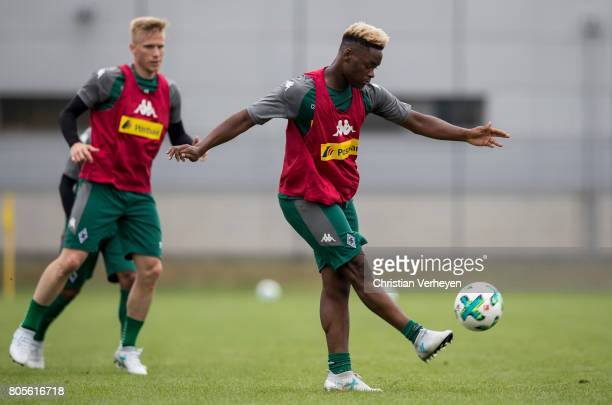 BaMuaka Simakala during a training session of Borussia Moenchengladbach at BorussiaPark on July 02 2017 in Moenchengladbach Germany
