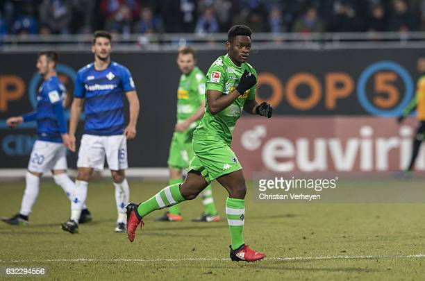 BaMuaka Simakala of Borussia Moenchengladbach during the Bundesliga Match between SV Darmstadt 98 and Borussia Moenchengladbach at Stadion am...