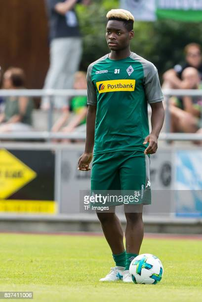 BaMuaka Simakala of Borussia Moenchengladbach looks on during a training session at the Training Camp of Borussia Moenchengladbach on July 19 2017 in...