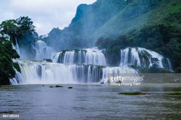 Ban Gioc Waterfall in pulling water season,Cao Bang, Viet Nam.