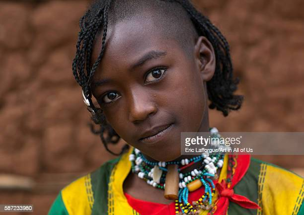 Bana tribe teenage girl omo valley key afer Ethiopia on March 17 2016 in Key Afer Ethiopia