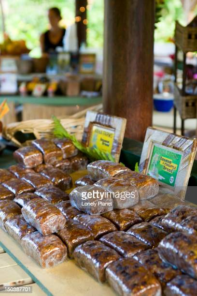 Banana bread in numerous styles, at a roadside market, Road to Hana.
