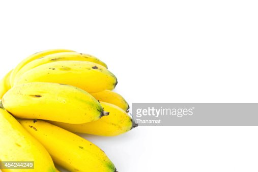 Banana on a white background : Stock Photo