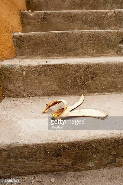 Banana Peel on the Stairs