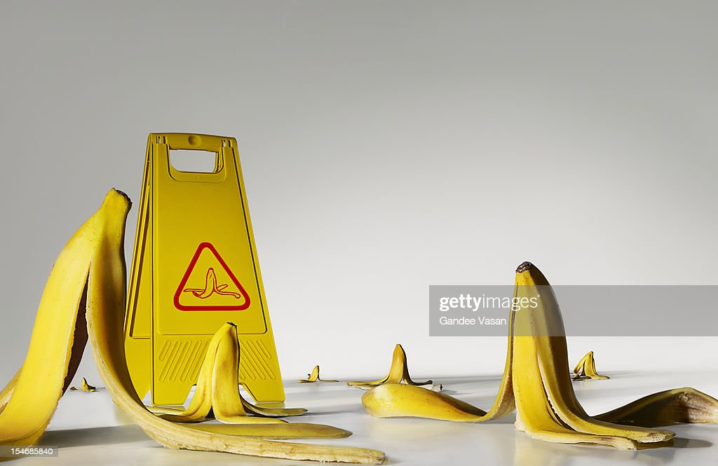 Banana peels on the floor