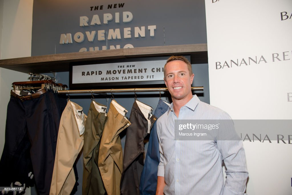 Banana Republic and Falcons quarterback Matt Ryan introduce Men's Style Council and Rapid Movement Chinos at Banana Republic Lenox Square on July 25, 2017 in Atlanta, Georgia.