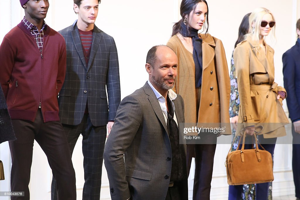 Banana Republic's vice president of men's design Michael Anderson attends the Banana Republic presentation during Fall 2016 New York Fashion Week at...
