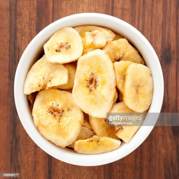 Banana fatia as refeições ligeiras
