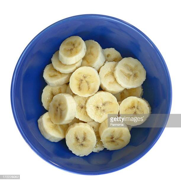 Bananas in Blue Bowl