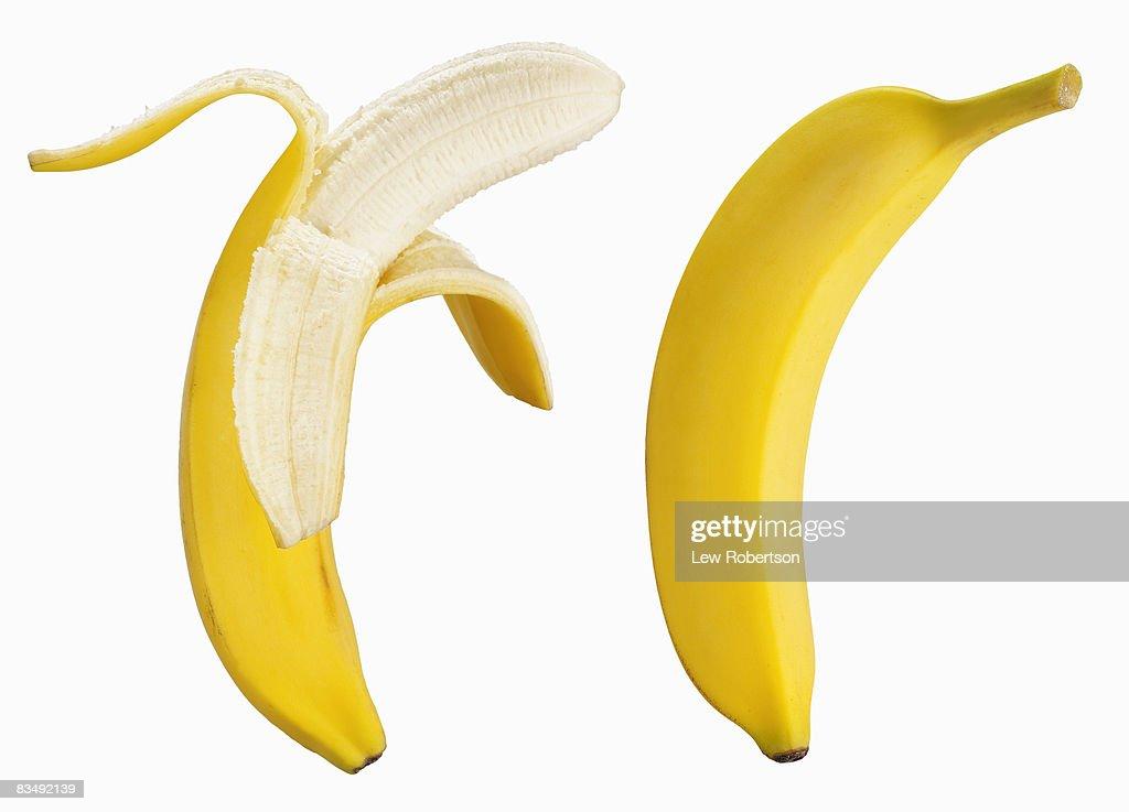 Bananas on white