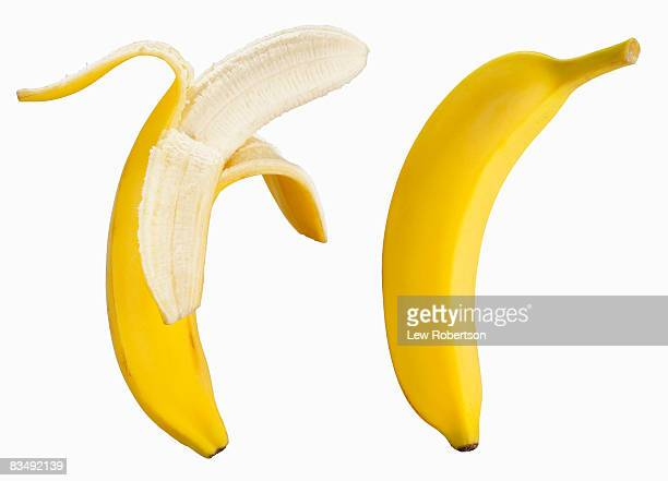 Bananas on white