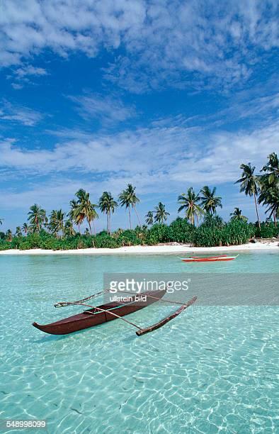 Banca Outrigger boat on the beach Philippinen Ananyana Resort Panglao Island Bohol
