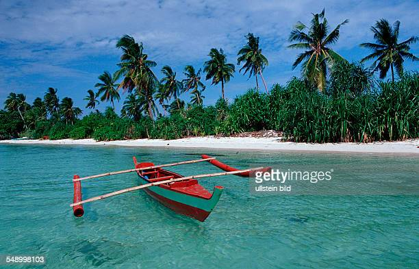 Banca Outrigger boat on the beach Philippinen Ananyana Resort Panglao Island Bohol