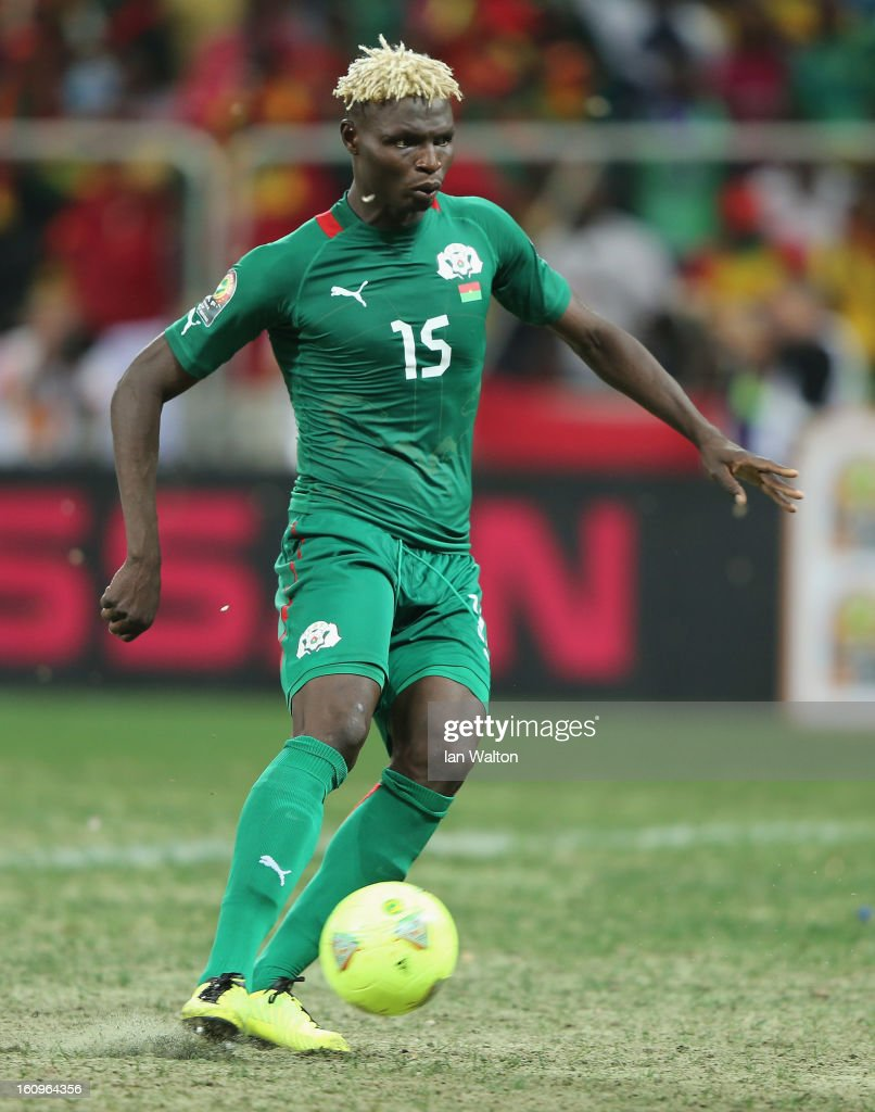 Bance Aristide of Burkina Faso in action during the 2013 Africa Cup of Nations Semi-Final match between Burkina Faso and Ghana at the Mbombela Stadium on February 6, 2013 in Nelspruit, South Africa.