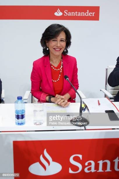 Banco Santander Chairman Ana Patricia Botin attends a news conference at the Bank's Castellana building on June 7 2017 in Madrid Spain Banco...