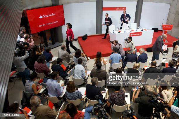 Banco Santander Chairman Ana Patricia Botin leaves after a news conference at the Bank's Castellana building on June 7 2017 in Madrid Spain Banco...
