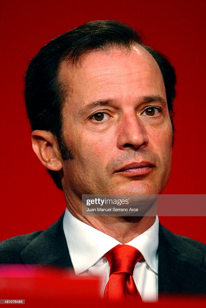 Banco Santander's chief executive officer Javier Marin attends the annual shareholders meeting at the Palacio Exposiciones on March 28, 2014 in Santander, Spain. As Spain tries to edge out of recession Banco Santander is looking for more growth as the euro zone's biggest bank.