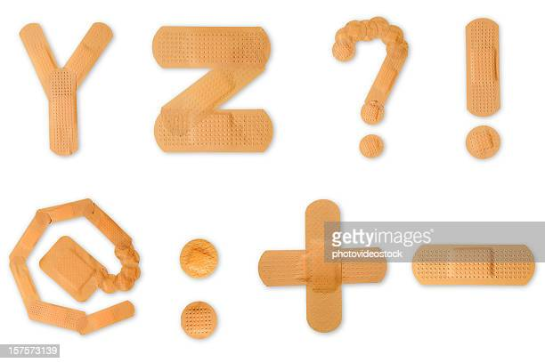 Band aid alphabet (clipping paths)