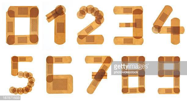 Band aid font alphabet