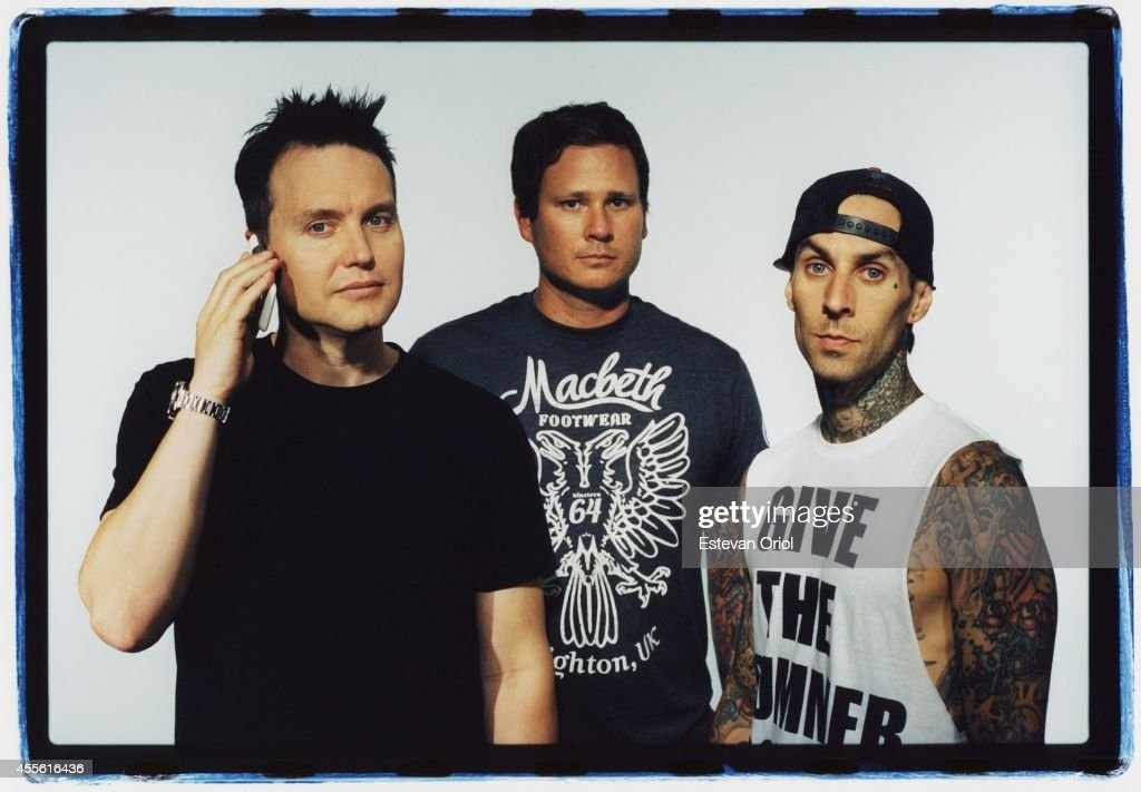Band Blink 182 poses for a publicity photo shoot at the Sound Matrix Studio for their album, Neighborhoods in Orange County, California 2011. <a gi-track='captionPersonalityLinkClicked' href=/galleries/search?phrase=Mark+Hoppus&family=editorial&specificpeople=211529 ng-click='$event.stopPropagation()'>Mark Hoppus</a>, <a gi-track='captionPersonalityLinkClicked' href=/galleries/search?phrase=Tom+DeLonge&family=editorial&specificpeople=226802 ng-click='$event.stopPropagation()'>Tom DeLonge</a>, <a gi-track='captionPersonalityLinkClicked' href=/galleries/search?phrase=Travis+Barker&family=editorial&specificpeople=213206 ng-click='$event.stopPropagation()'>Travis Barker</a>