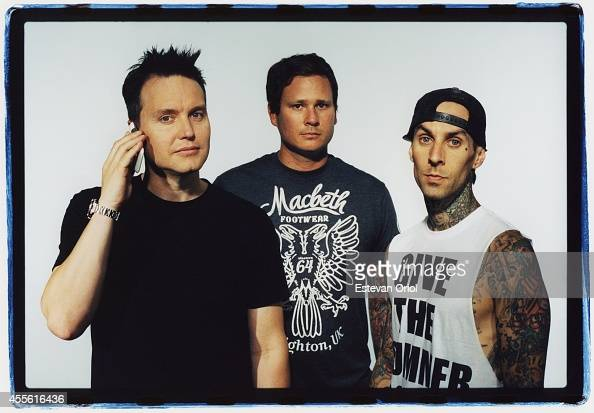 Band Blink 182 poses for a publicity photo shoot at the Sound Matrix Studio for their album Neighborhoods in Orange County California 2011 Mark...
