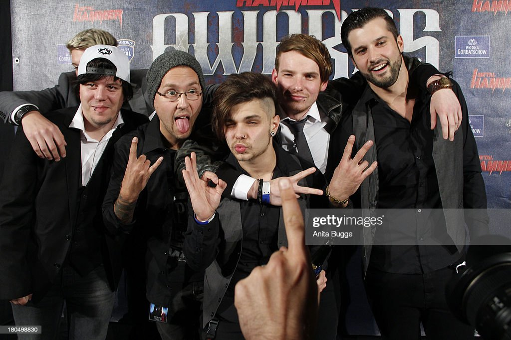 Band 'Eskimo Callboy' attend the Metal Hammer Awards 2013 at Kesselhaus on September 13, 2013 in Berlin, Germany.